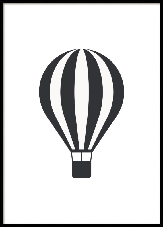 Hot air balloon Kids poster