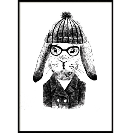 Hipster Rabbit Kids poster
