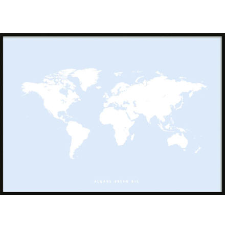 Children's Poster with a world map  Posters for kids