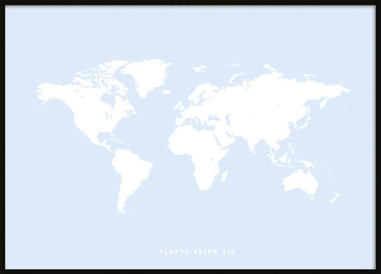 BLUE KIDS WORLDMAP POSTER ...
