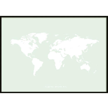 GREEN KIDS WORLDMAP POSTER