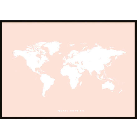 PINK KIDS WORLDMAP POSTER