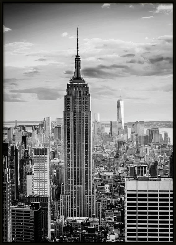 new york poster black and white poster with new york. Black Bedroom Furniture Sets. Home Design Ideas