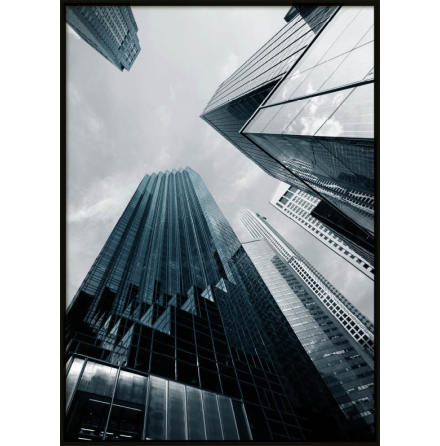 New York Skyscraper Blue, Poster