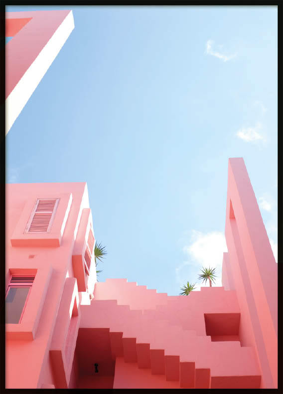 Poster, Pink Stairs