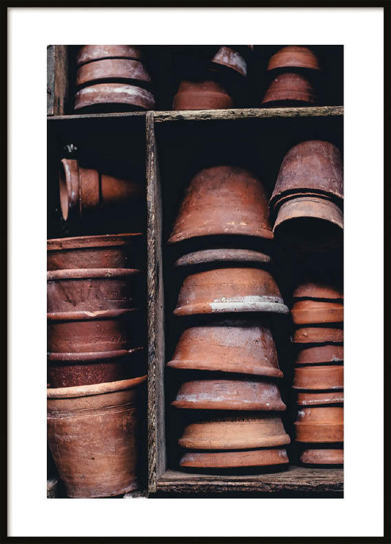 Poster, Red Pots
