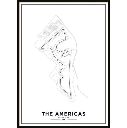Poster,Circuit of the Americas Formula 1 Print White