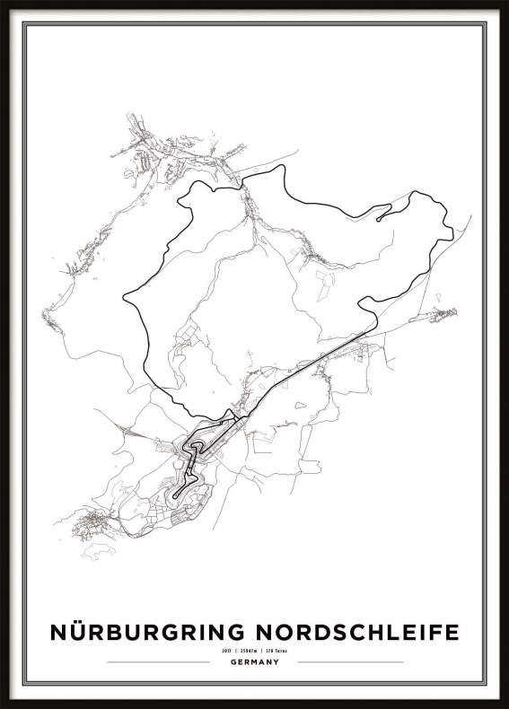 Map Of Uk Race Tracks.F1 Race Tracks Prints F1 Nurburgring Nordschleife Race Track Print
