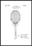 Patent Poster Tennis