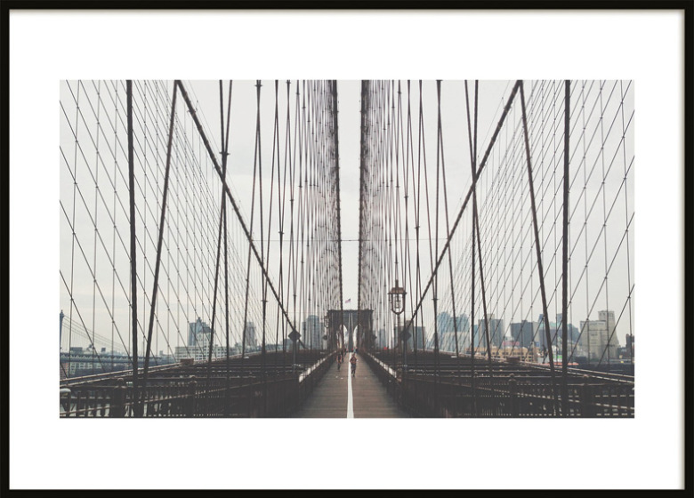 poster brooklyn bridge photographs and art prints online. Black Bedroom Furniture Sets. Home Design Ideas