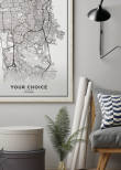 Poster Map, Your Choice