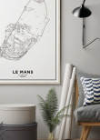Poster, 24 Hours of Le Mans Print White