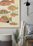 Vintage Fishes 8, Poster