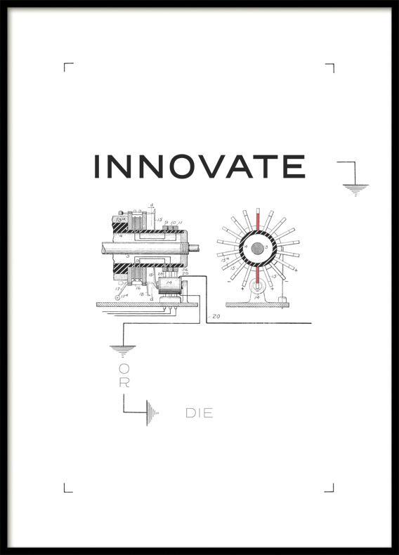 Quote Innovate or die, Poster