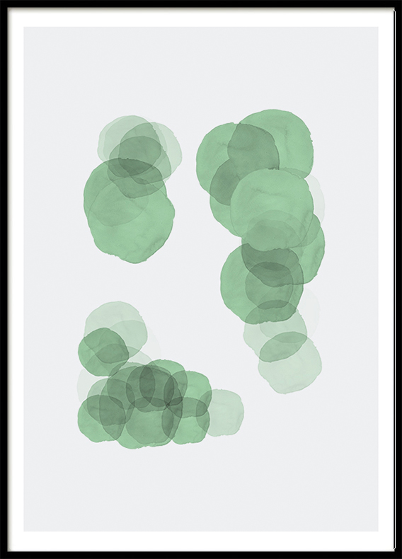Mint Green Circles, Poster
