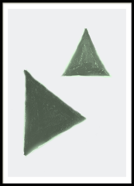 Mint Green Triangle, Poster