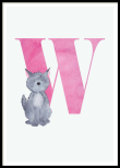 Letter W, Poster
