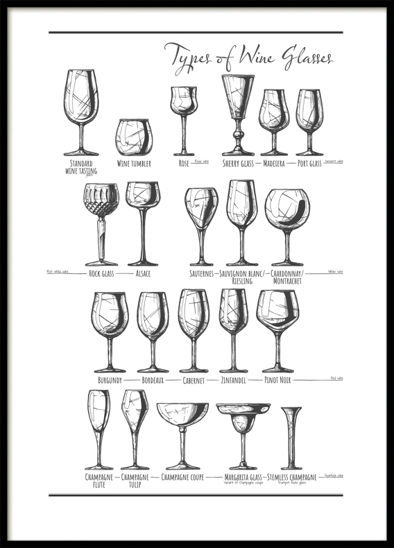 Wine Glasses, Poster
