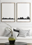 Detroit City Skyline, Poster