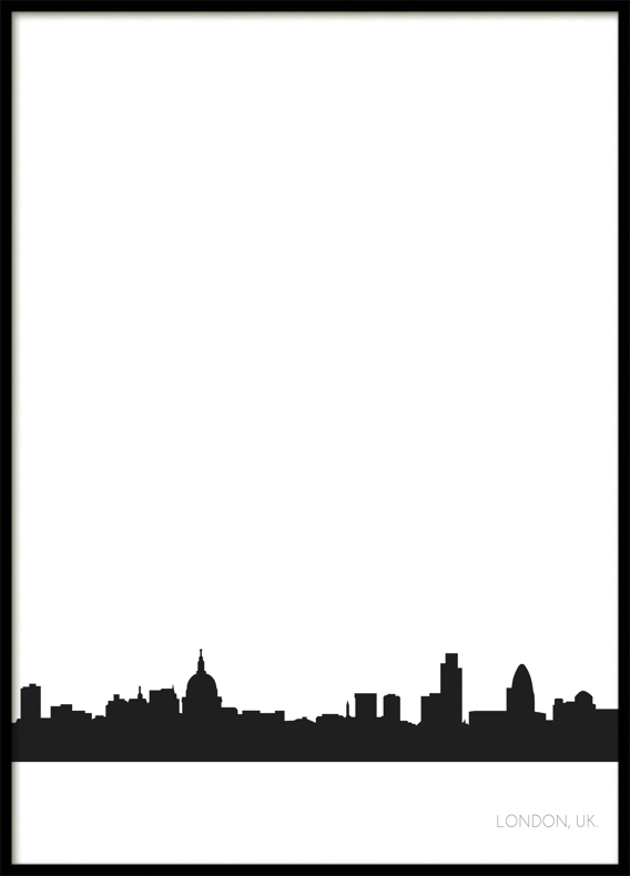 London City Skyline, Poster