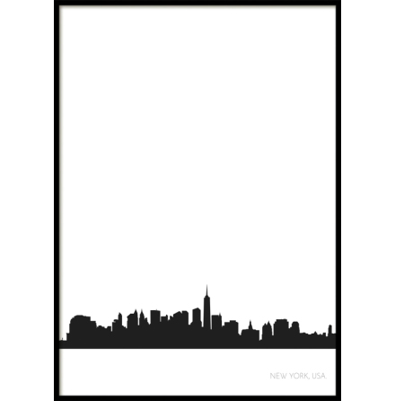 New York City Skyline, Poster