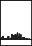 Los Angeles City Skyline, Poster