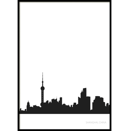 Shanghai City Skyline, Poster