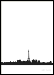 Paris City Skyline, Poster