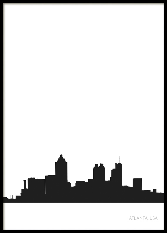 Atlanta City Skyline, Poster
