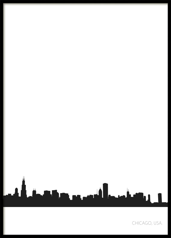 Chicago City Skyline, Poster