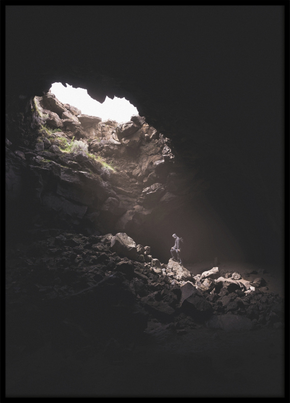 Image result for man in a cave