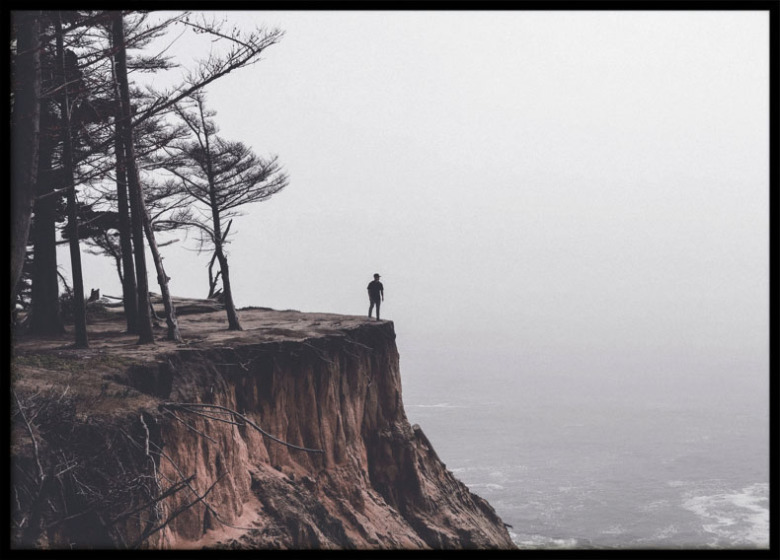 Poster, Man on a cliff