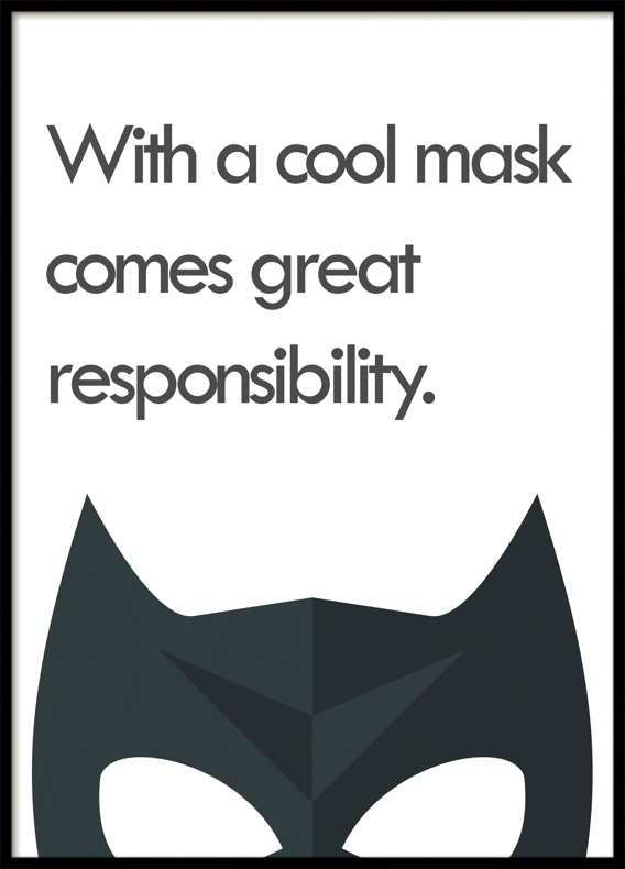 A Cool Mask, Superhero, Poster