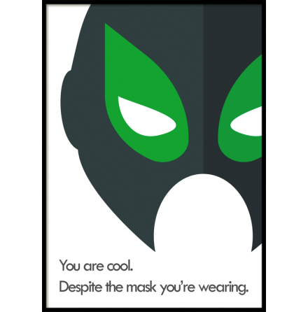 Despite the Mask, Superhero, Poster
