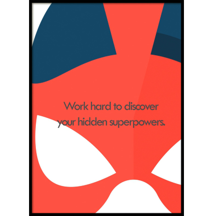 Hidden Superpowers, Superhero, Poster