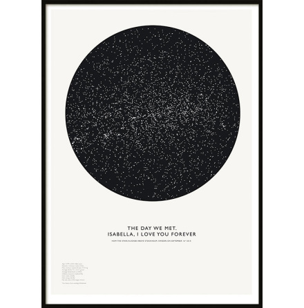 Poster Star Map, Your Choice