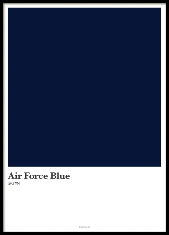 POSTER, AIR FORCE BLUE
