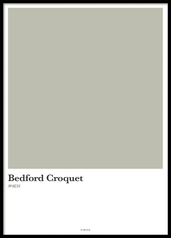 BEDFORD CROQUET, POSTER
