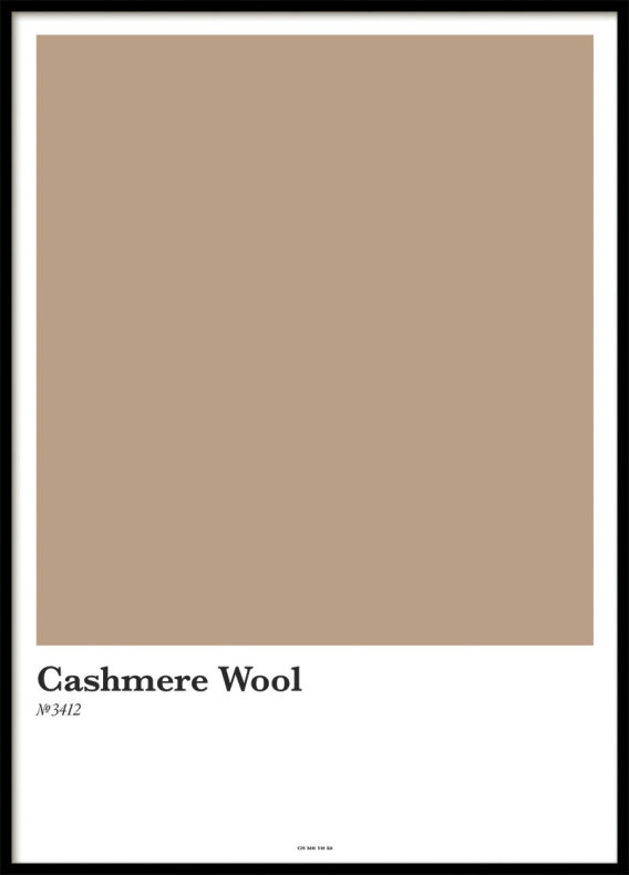CASHMERE WOOL, POSTER
