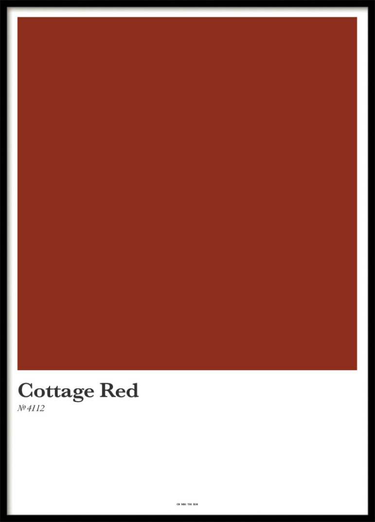 COTTAGE RED, POSTER