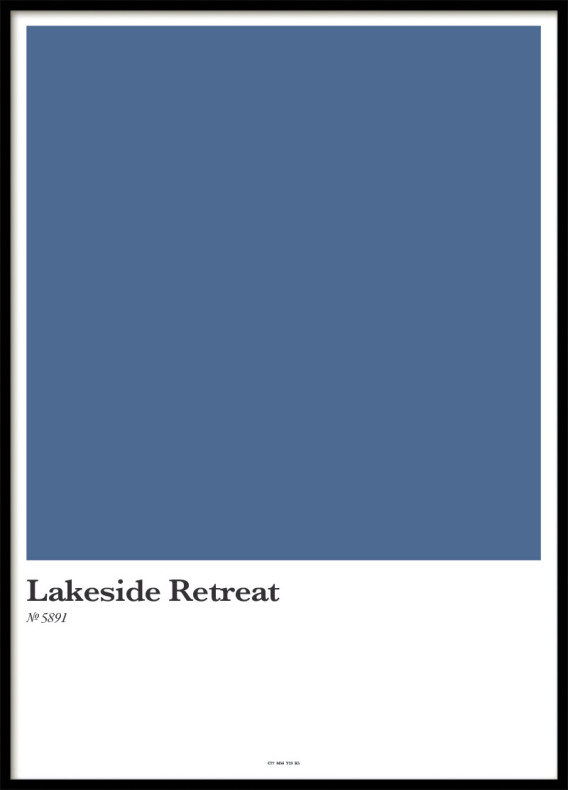 LAKESIDE RETREAT, POSTER