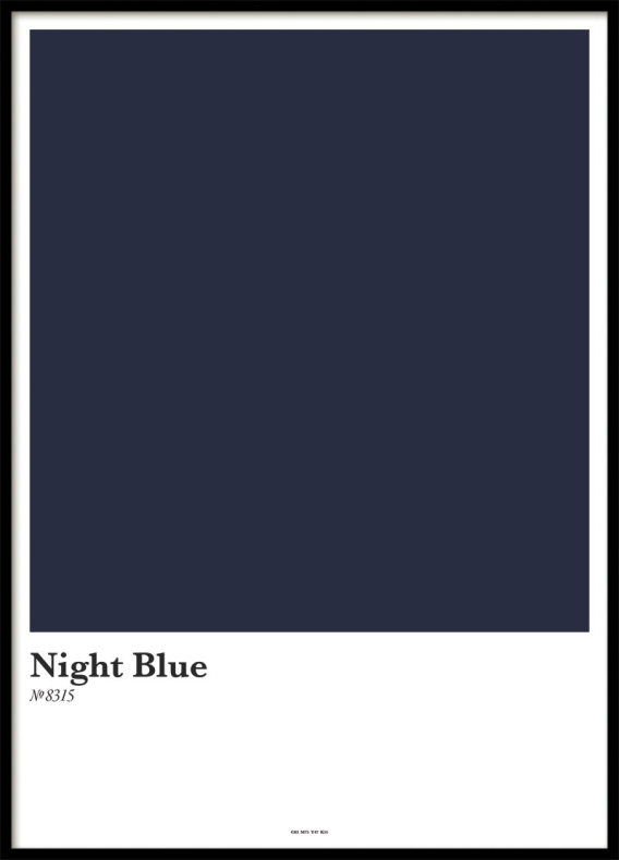 NIGHT BLUE, POSTER