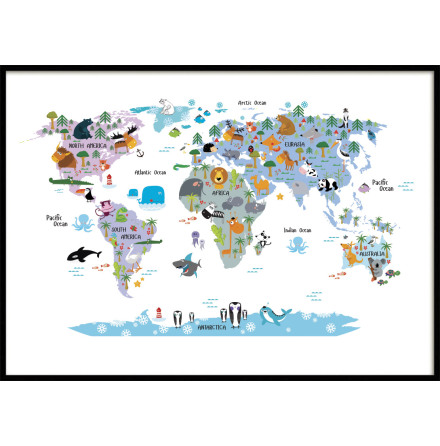 KIDS WORLDMAP POSTER