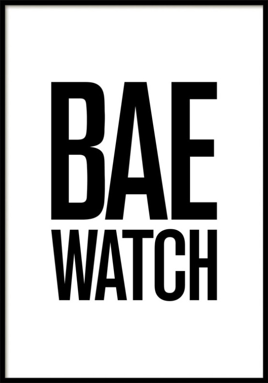 BAEWATCH, POSTER