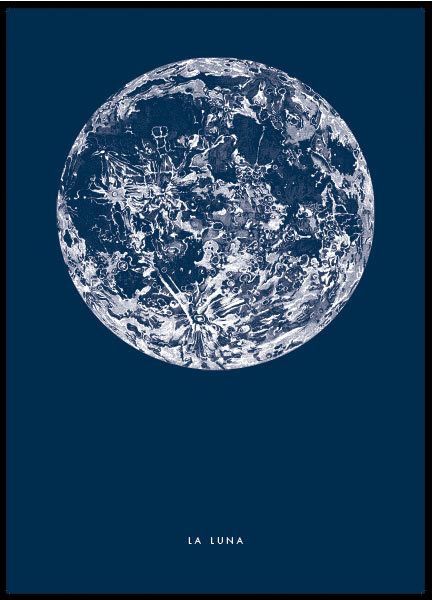 poster with moon print