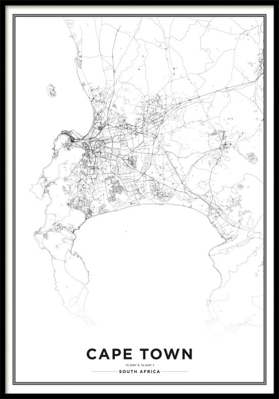 Map poster Cape Town