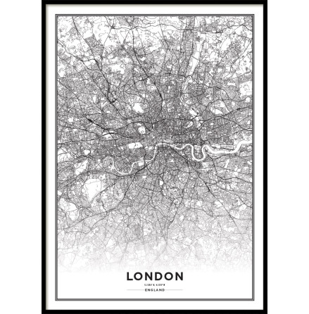 POSTER LONDON CITY MAP