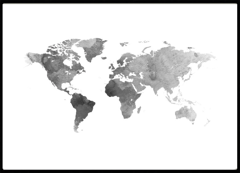 Poster world map poster with maps cities poster world map grey gumiabroncs Choice Image
