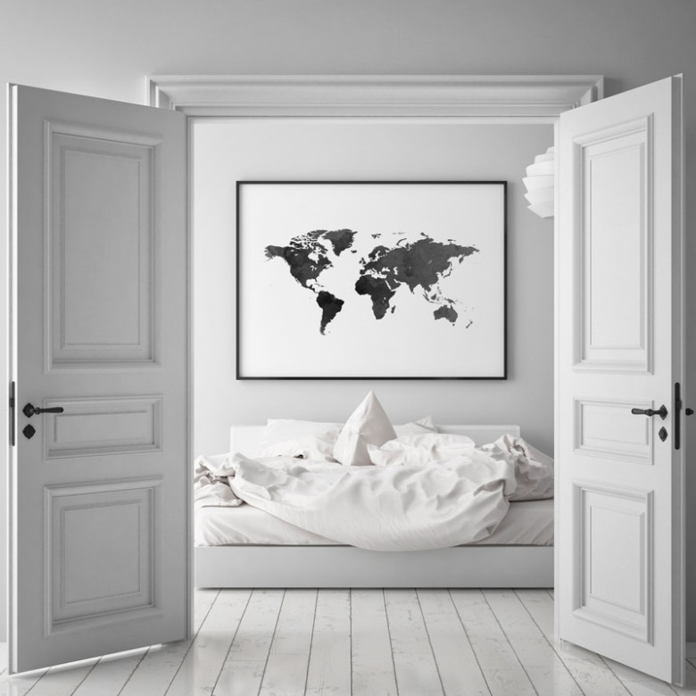 Poster world map poster with maps cities poster world map black gumiabroncs