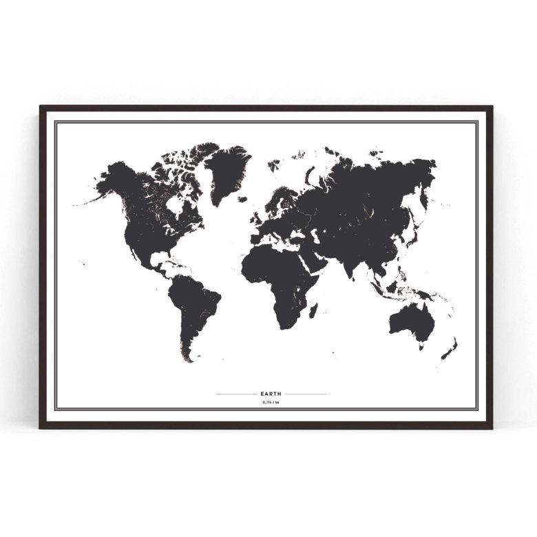 Poster world map poster with maps cities poster world map black gumiabroncs Images